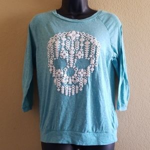 Jerry Leigh Apparel Tribal Skull Top